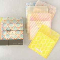 "Gorgeous Envelopes ""Tracing Pattern 6 Pattern Set"" from Japan"
