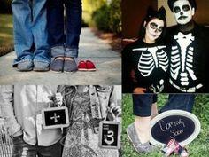 # 임신을 알리는 창의적인 방법 최근 임신을 알리는 창의적인 방법이 소개되어 화제인데요. 위에서 왼쪽 사진은 남녀의 신발이 보이고 그 옆에 조그만한 아기신발이 보입니다. 곧 태어날 아가의 아기신발인가봐요~ 위에서 오른쪽 사진은 해골 코프프레를 한 남녀의 사진인데요. 여성의 옷 위로 아기가 움크린 포즈를 취한 해골이 그려져있어 임신중이라는 사실을 알 수 있네요^^* 아래에서 왼쪽 사진은 남성 + 여성 = 3...
