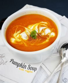 Pumpkin Soup with Veggie
