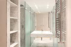 decoración de baños modernos con vinilico y fotos