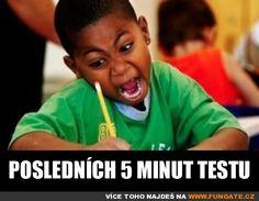 Posledních 5 minut testu