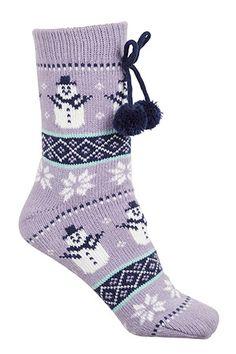 Socks & Tights For Women Knitted Slippers, Slipper Socks, Cosy Socks, Black Tights, Christmas Stockings, Snowman, Knitting, Women, Fashion