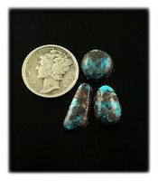 10 Carat Lot of Bisbee Turquoise Cabochons