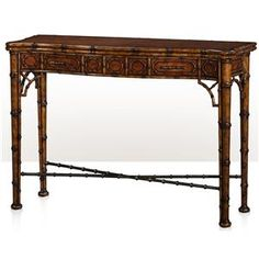 Indochine The Edwardian Bamboo Console by Theodore Alexander at Baer's Furniture