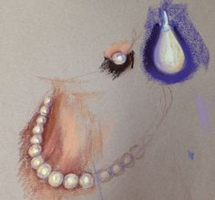 Learn to paint pearls and jewellery in pastel as part of Cath Ingles' portraits course now available on ArtTutor