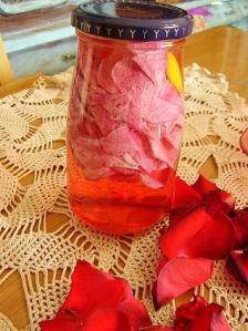 DIY Rose Water - includes embedded YouTube tutorial