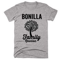 BONILLA Family Name Reunion Gathering Surname T-Shirt