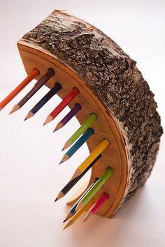 Деревянные ручки и держатель карандаша, Домашний декор, деревянные идея подарка, организатор стол, организатором офисные настольные, деревянные настольные принадлежности
