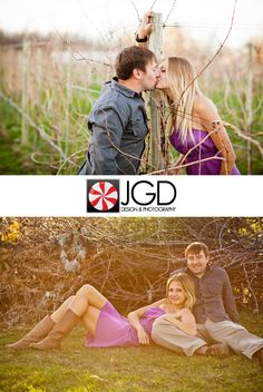 Vineyard / Orchard Engagement Session. www.jgddesignphoto.com #engagement #engaged #engagementphotography