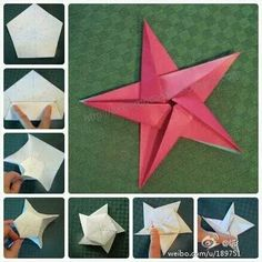 Step by step origami star