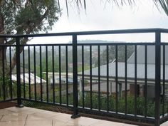 balustrade uses all powder coated aluminium for long lasting peace of