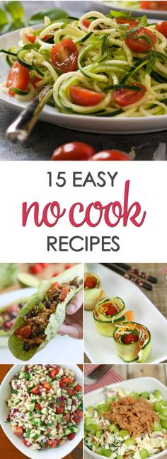 No cook dinner recipes that are quick and easy to make via @itsakeeperblog