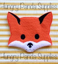 Fox Feltie Embroidery Design, fox feltie, fox machine embroidery, ITH, in the hoop, 4x4, fox, woodlands