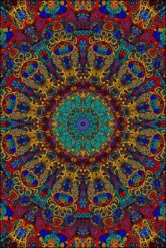 3D - Psychedelic Sunburst - Tapestry