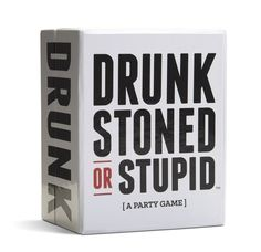 Drunk, Stoned or Stupid is like Cards Against Humanity + Never Have I Ever.