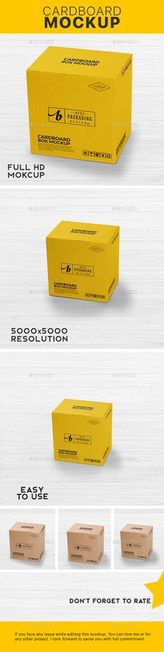 Cardboard Box Mock-Up - Packaging Product Mock-Ups