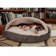 Not cheap - but definitely the most popular dog bed in the house! Very well constructed. Great for dogs that like to burrow under blankets!
