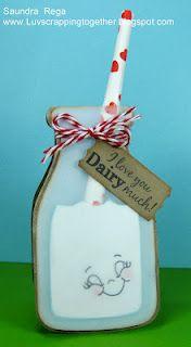 Milk Bottle: I heart shaped cards :)
