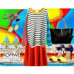 Colorful Romwe by gabriele-bernhard on Polyvore featuring James Robison, Parvez Taj and romwe