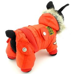 SELMAI Small Dog Apparel for Girls Boys Airman Fleece Winter Coat Snowsuit Hooded Jumpsuit Waterproof >>> Check out this great product. (This is an affiliate link and I receive a commission for the sales)