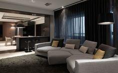 Sleek Apartment by KCD Design Studio http://www.homedezen.com/concerto-kcd-design-studio/
