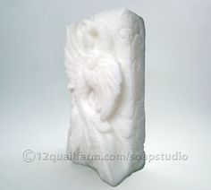 Peacock Soap (White) - Soap Studio