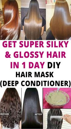 Get super silky & glossy hair in 1 day Hair Mask For Damaged Hair, Best Hair Mask, Dull Hair, Hair Masks, Damaged Hair Repair, Diy Hair Repair Mask, Hair Remedies For Growth, Hair Growth Treatment, Dry Hair Remedies