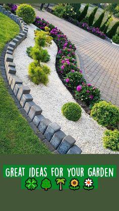 Front Yard Garden Design, Front Garden Landscape, Garden Design Plans, Backyard Garden Design, Small Garden Design, Backyard Designs, Landscape Art, Courtyard Landscaping, Small Backyard Landscaping