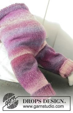 Sweet Evelina Pants / DROPS Baby 20-4 - Strikket bukse til baby og barn i DROPS Delight