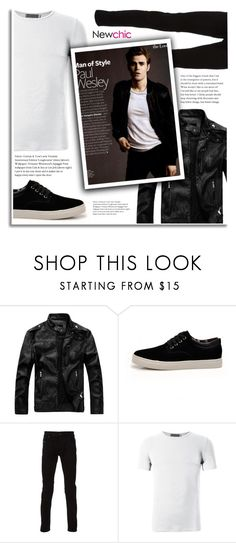 Newchic Menswear - Star Style: Paul Wesley by dora04 on Polyvore featuring Diesel, men's fashion, menswear, paulwesley and stefansalvatore