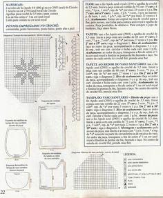 Tapetes em Crochê   banheiro em crochê         Aprenda mais croche       tapetes em croche video-aulas grátis     toalhas em croche - tap...