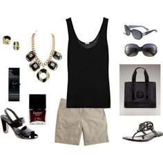 Black and Tan, created by dawndayiannelli.polyvore.com