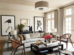 Living Room Curtains Gray Living Room Ideas Photos | Architectural Digest