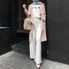 54 ideas for fashion hijab style outfits beautiful Hijab Chic, Casual Hijab Outfit, Hijab Style, Hijab Dress, Street Hijab Fashion, Muslim Fashion, Modest Fashion, Fashion Outfits, Islamic Fashion