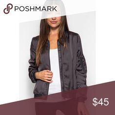 Ash Satin Bomber Jacket Brand new! Super cute & and on trend this year! 15% off of bundles! FEEL LIKE MAKING AN OFFER? Please do it through the make an offer feature as I will no longer negotiate prices in the comments section. PRICE IS FINAL ON ITEMS $15 or less unless bundled. Hannah Beury Jackets & Coats