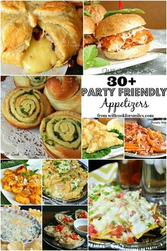 Over 30 party-friendly appetizers from Will Cook For Smiles Meat Appetizers Appetizers Appetizers keto Appetizers parties Appetizers recipes Finger Food Appetizers, Yummy Appetizers, Appetizers For Party, Appetizer Recipes, Finger Foods, Snack Recipes, Tapas, Good Food, Yummy Food