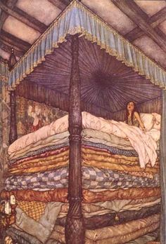 The Princess and the Pea--illustration by Edmund Dulac