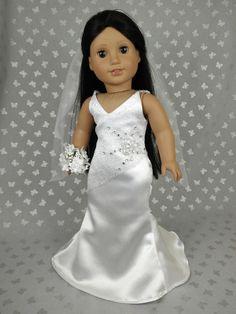 Beautiful Wedding Dress for American Girl Doll 03
