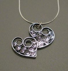 quilled paper jewelry pensNTS | Two Hearts As One - Quilled Necklace