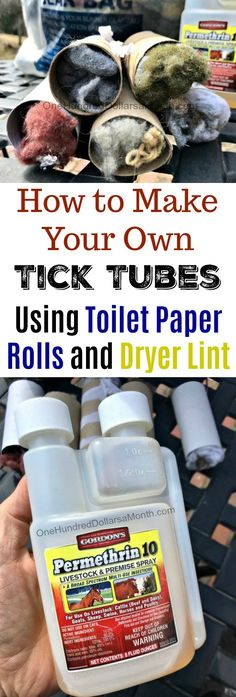 How to Make Your Own Tick Tubes How to Make Your Own Tick Tubes, Tick Tubes, Gardening, Tick Bites, Tick Tubes, Make Your Own, Make It Yourself, How To Make, Tick Bite, Natural Pesticides, Pet Chickens, Survival Prepping, Survival Gear