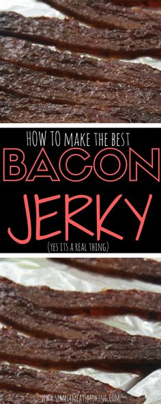 How To Make Bacon Jerky [October Smoker Cooking smoker recipes jerky Best Grill Recipes, Bacon Recipes, Grilling Recipes, Barbecue Recipes, Tailgating Recipes, Snack Recipes, Smoker Jerky Recipes, Pork Jerky, Recipes With Beef Jerky