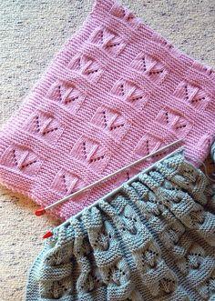 Heart Quilt Baby Blanket Fiber Trends Knitting Pattern CH-50