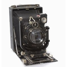 Vintage Antique Camera Zeiss Ikon Trona 214/7 9x12 Folding Plate... ($200) ❤ liked on Polyvore