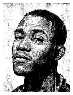 size: Stretched Canvas Print: Frank Ocean by Neil Shigley : Using advanced technology, we print the image directly onto canvas, stretch it onto support bars, and finish it with hand-painted edges and a protective coating. Linocut Prints, Giclee Print, Art Print, Line Art Lesson, Ocean Drawing, Shetland, Scratchboard, Frank Ocean, Ocean Art