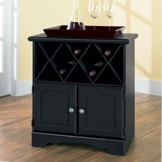 Wine Rack Cabinet With Shelf Barware Kitchen Dining Furniture