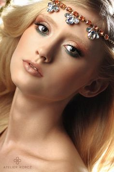 Simple, romantic wedding make up by atelierkorcz.com. #blonde #wedding #makeup #hair #bride #eyemakeup #pink #elegant #simple #chic #rustic #natural #princess #romantic