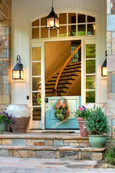 Front Entry - traditional - entry - denver - by Dann Coffey Photography/ Love the idea of a empty pot at the front....