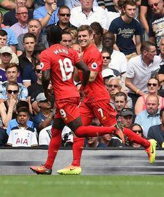 PL Tottenham vs Liverpool 1-1 Sadio Mane og James Milner