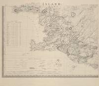 Uppdráttr Íslands  Author:Björn Gunnlaugsson/Olaf Nikolas Olsen Country:Iceland Publication period:1844 - 1848 (ver publicação 9)