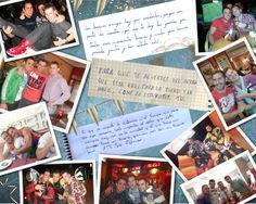 Cuadro collage realizado a través de fotos y dedicatorias